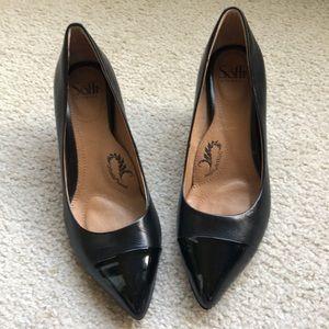 Sofft Tansy Black Kid/Patent Heel